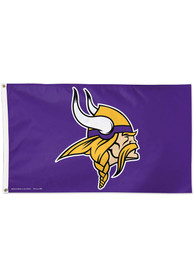 Minnesota Vikings 3x5 Purple Silk Screen Grommet Flag