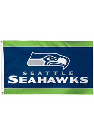 Seattle Seahawks 3x5 Blue Silk Screen Grommet Flag