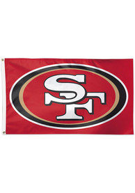 San Francisco 49ers 3x5 Red Silk Screen Grommet Flag