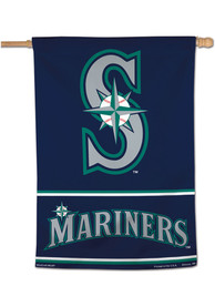 Seattle Mariners Logo 28x40 Banner