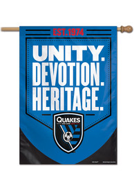 San Jose Earthquakes 28x40 Banner