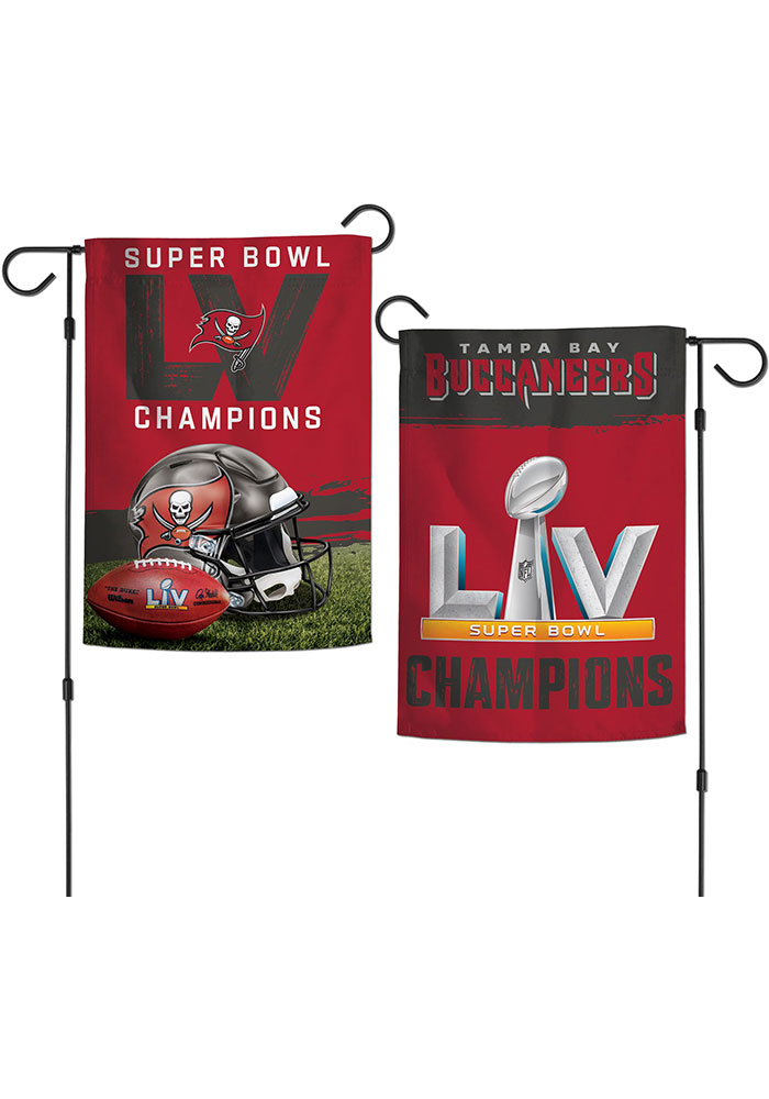 Tampa Bay Buccaneers Super Bowl LV Champions 2 Sided Garden Flag - Image 1