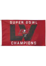 Tampa Bay Buccaneers Super Bowl LV Champions 3x5 Deluxe Red Silk Screen Grommet Flag