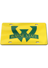 Wayne State Warriors Logo Car Accessory License Plate