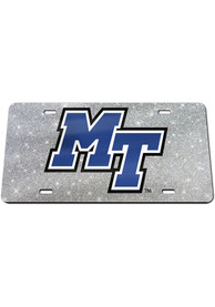 Middle Tennessee Blue Raiders Glitter Car Accessory License Plate