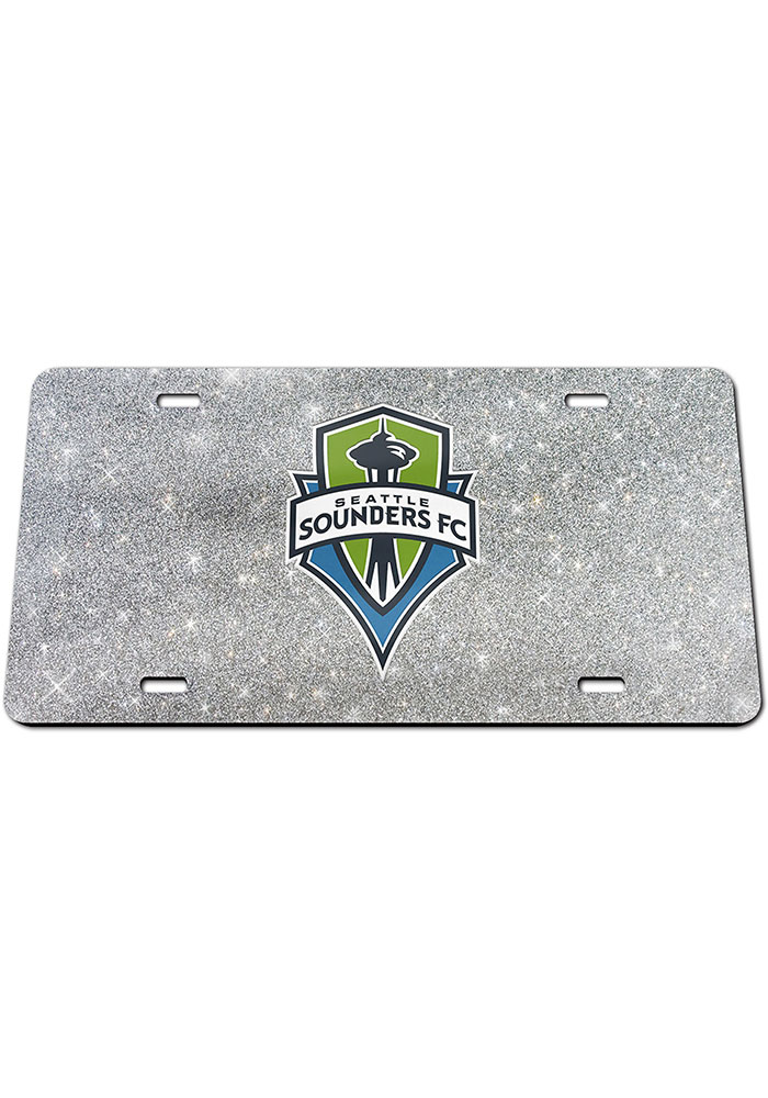Seattle Sounders FC Glitter Car Accessory License Plate - Image 1