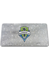 Seattle Sounders FC Glitter Car Accessory License Plate