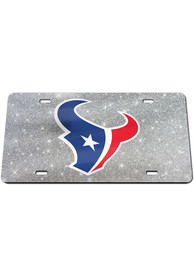 Houston Texans Glitter Car Accessory License Plate