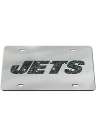 New York Jets Glitter Car Accessory License Plate