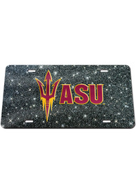 Arizona State Sun Devils Glitter Car Accessory License Plate