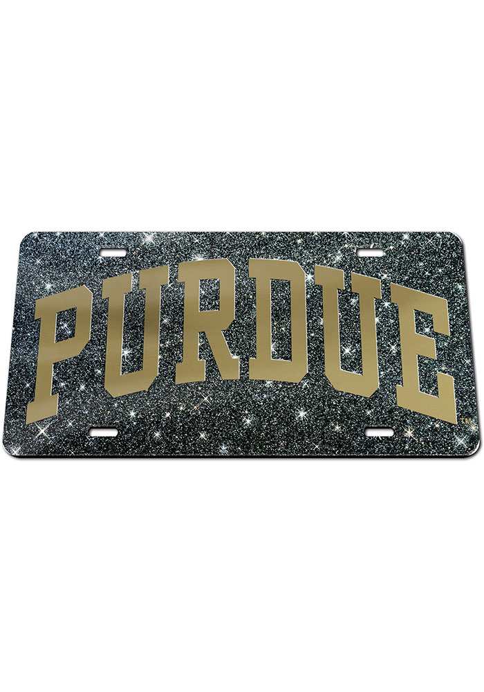 Purdue Boilermakers Glitter Car Accessory License Plate - Image 1
