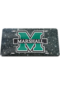 Marshall Thundering Herd Glitter Car Accessory License Plate