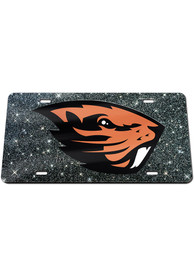 Oregon State Beavers Glitter Car Accessory License Plate