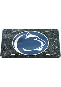 Penn State Nittany Lions Glitter Car Accessory License Plate