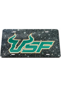 South Florida Bulls Glitter Car Accessory License Plate
