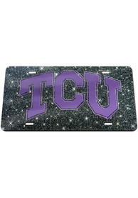 TCU Horned Frogs Glitter Car Accessory License Plate