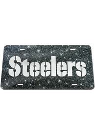 Pittsburgh Steelers Glitter Car Accessory License Plate