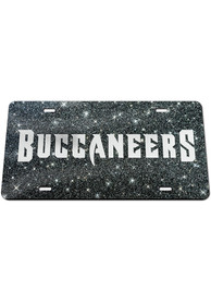 Tampa Bay Buccaneers Glitter Car Accessory License Plate