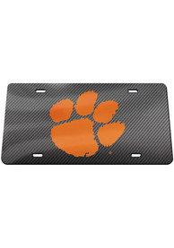 Clemson Tigers Carbon Car Accessory License Plate