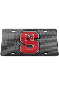NC State Wolfpack Carbon Car Accessory License Plate