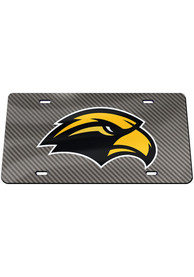 Southern Mississippi Golden Eagles Carbon Car Accessory License Plate