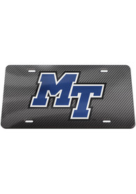 Middle Tennessee Blue Raiders Carbon Car Accessory License Plate