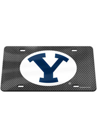 BYU Cougars Carbon Car Accessory License Plate