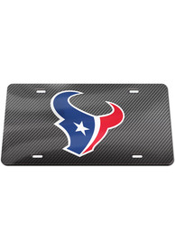 Houston Texans Carbon Car Accessory License Plate