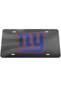 New York Giants Carbon Car Accessory License Plate
