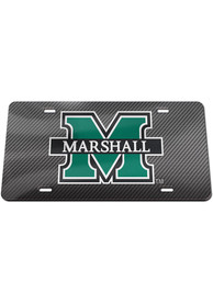Marshall Thundering Herd Carbon Car Accessory License Plate