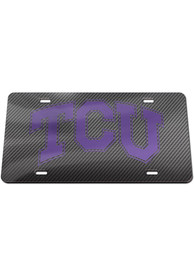 TCU Horned Frogs Carbon Car Accessory License Plate