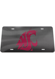 Washington State Cougars Carbon Car Accessory License Plate