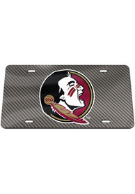 Florida State Seminoles Carbon Car Accessory License Plate