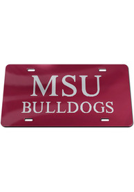 Mississippi State Bulldogs Inlaid Car Accessory License Plate