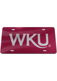 Western Kentucky Hilltoppers Inlaid Car Accessory License Plate
