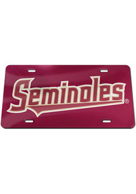Florida State Seminoles Inlaid Car Accessory License Plate