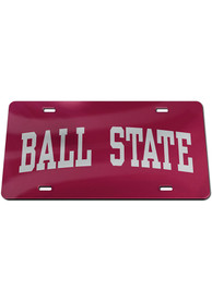 Ball State Cardinals Inlaid Car Accessory License Plate