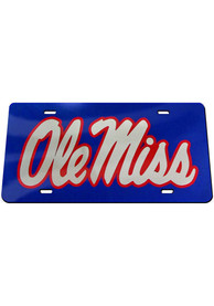 Ole Miss Rebels Inlaid Car Accessory License Plate