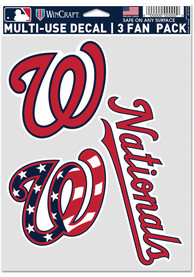 Washington Nationals Triple Pack Auto Decal - Red