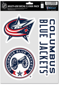 Columbus Blue Jackets Triple Pack Auto Decal - Blue