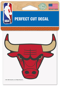 Chicago Bulls City Edition 4x4 Auto Decal - Black