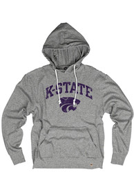 K-State Wildcats Rally Distressed Arch Mascot Lightweight Fashion Hood - Grey