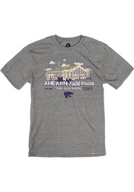 K-State Wildcats Rally Ahearn Fieldhouse Triblend Fashion T Shirt - Grey