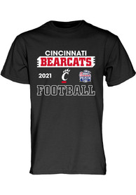 Cincinnati Bearcats 2020 Peach Bowl Bound T Shirt - Black