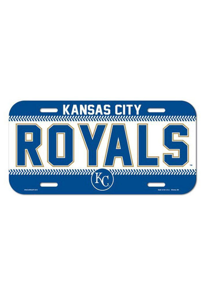 Kansas City Royals Team Name Plastic Car Accessory License Plate - Image 1