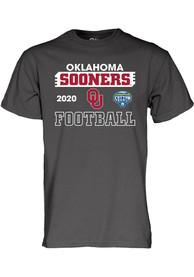 Oklahoma Sooners 2020 Cotton Bowl Bound T Shirt - Charcoal