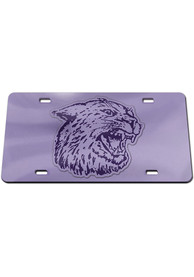 K-State Wildcats Lavender Inlaid Car Accessory License Plate