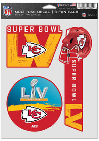 Kansas City Chiefs Super Bowl LV Bound 5.5x7.75 Auto Decal - Red
