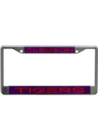 Clemson Tigers Metallic Inlaid License Frame