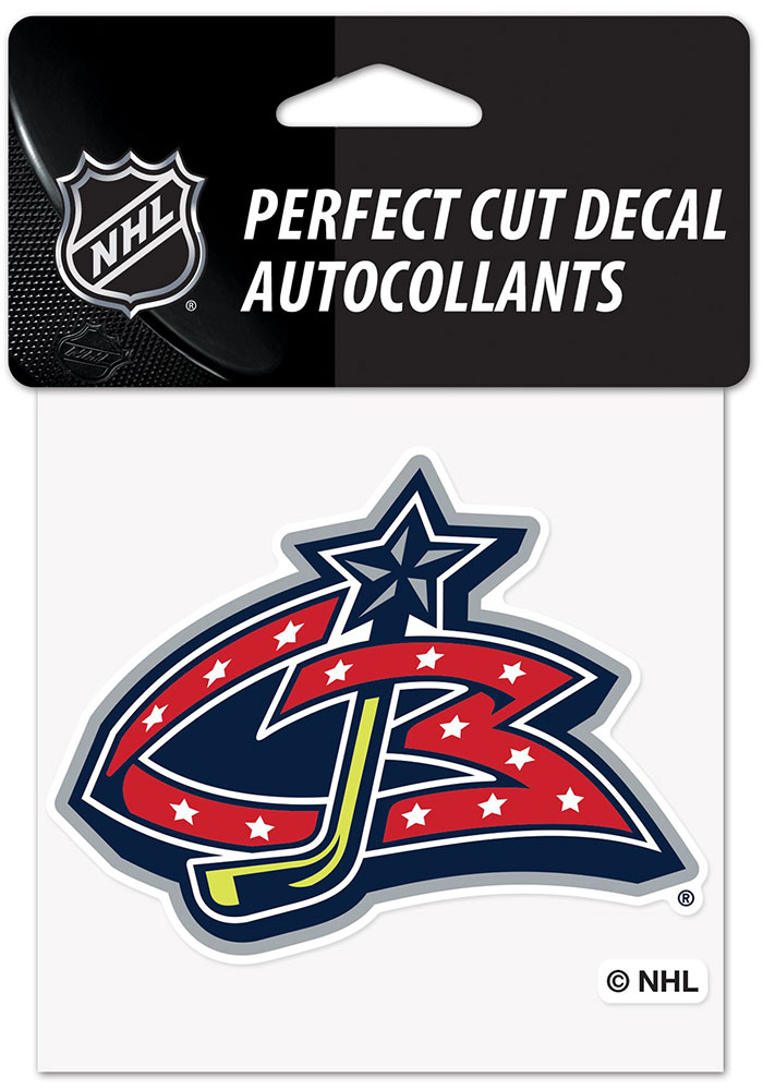 Columbus Blue Jackets Reverse Retro Logo Auto Decal - Blue